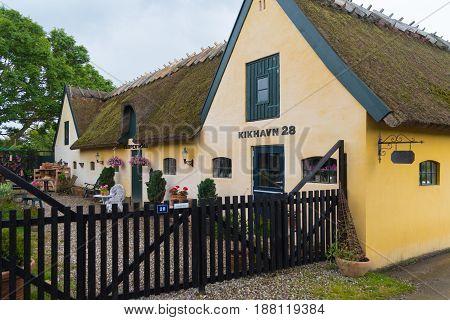 KIKHAVN DENMARK - AUGUST 4 2016: Typical danish house in the old fishermen's village of Kikhavn