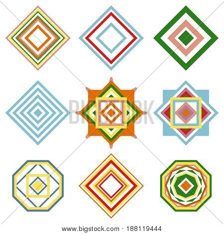 Set of mandalas. Vector ethnic oriental geometric ornament. Traditional style illustration.