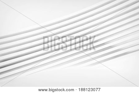 Abstract white panels with copyspace for text. 3D rendering