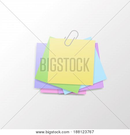 Isolated sticky note on white background.  Vector illustration.