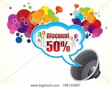 abstract artistic colorful discount background vector illustration