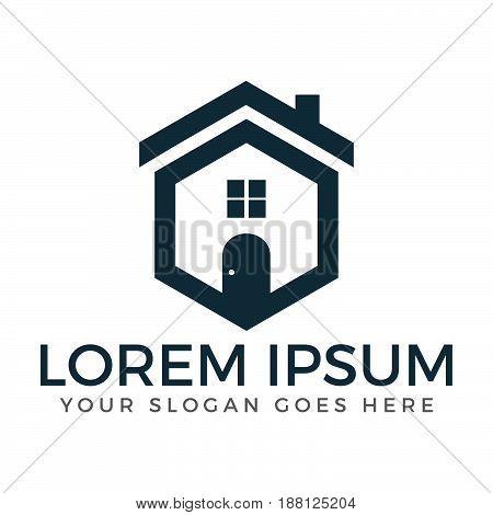 Real estate logo. Property and Construction Logo design. Home logo. Property logo. House service logo.