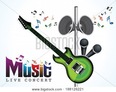 abstract artistic music concert background vector illustration