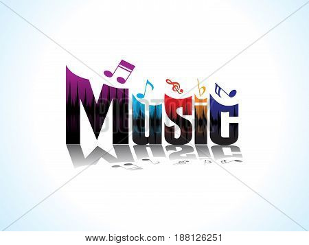 abstract artistic colorful music text vector illustration