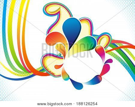 abstract artistic colorful wave explode vector illustration