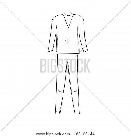 line cute man elegant wear design, vector illustration