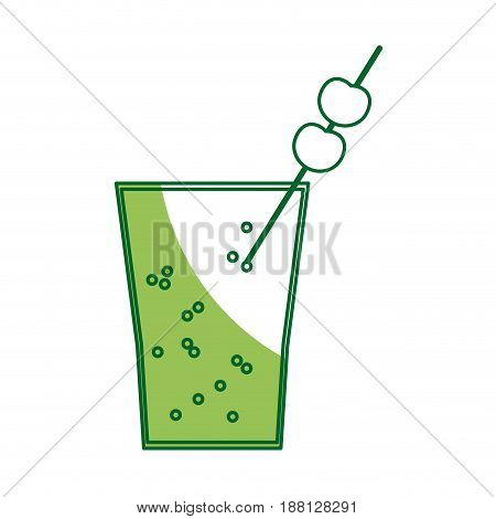 cocktail drink fruit juice alcoholic cold vector illustration