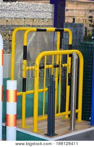 Examples of barriers for pedestrian and vehicle traffic
