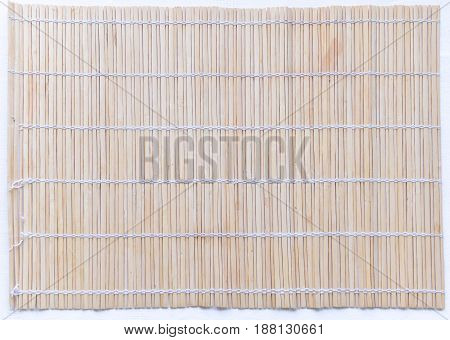 Wooden bamboo a mat texture abstract background.