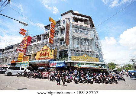 Local Street Outside The Mae Klong Market