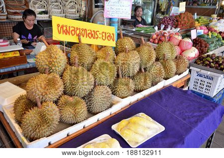 Durian Vendor On The Street