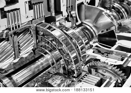 Engine Interior Engineering Industry Concept