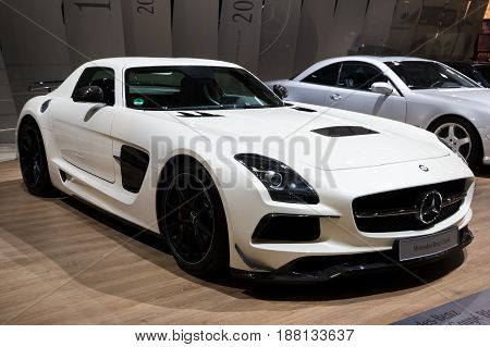 Mercedes Benz Sls Amg White Sports Car