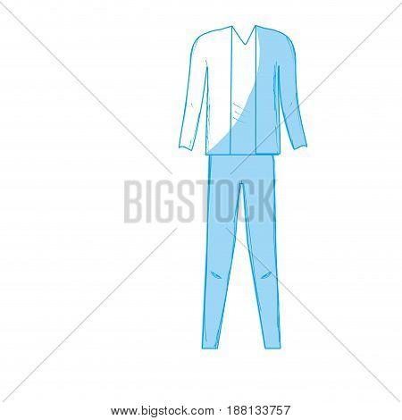 silhouette cute man elegant wear design, vector illustration