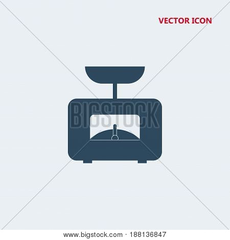 food scale tool vector icon isolated on white background