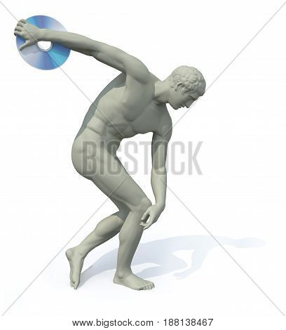 Discobolus With Compactl Disk Launching