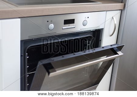 Close Up Of Electric Stove In Modern Kitchen