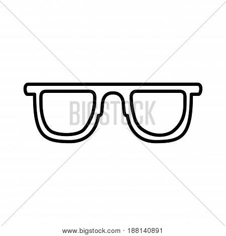 black silhouette of sunglasses icon vector illustration