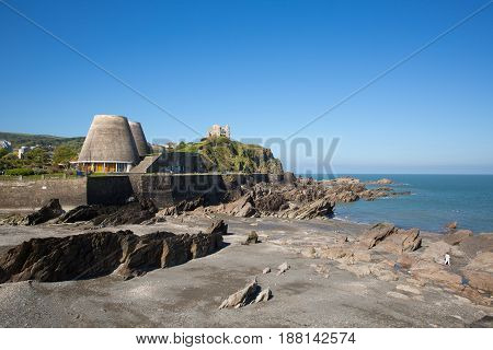 Ilfracombe North Devon west coast tourist destination in summer with blue sky
