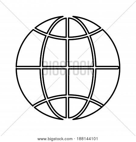 line global symbol to earth planet, vector illustration design