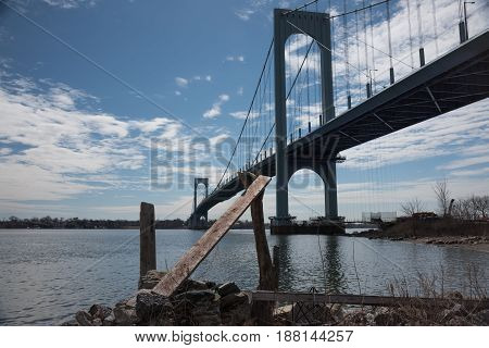Bronx-Whitestone Bridge connecting Bronx to the Queens in New York City