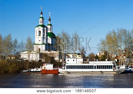 View of the Ascension-St. George`s Church of Tyumen