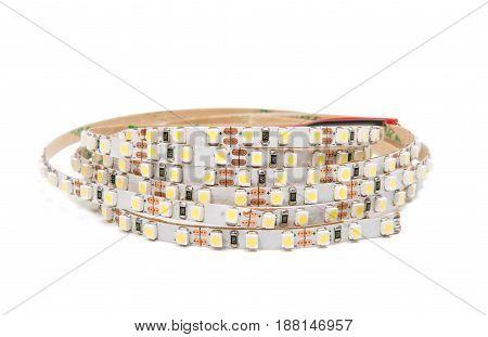 LED tape technology isolated on white background
