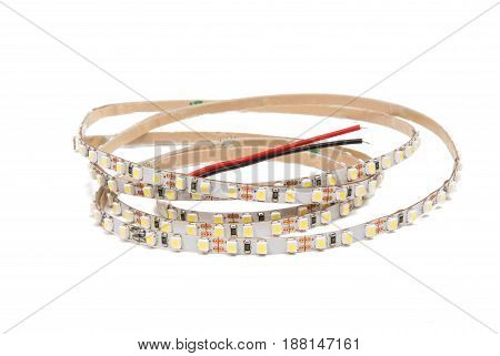 LED tape technology isolated on white background