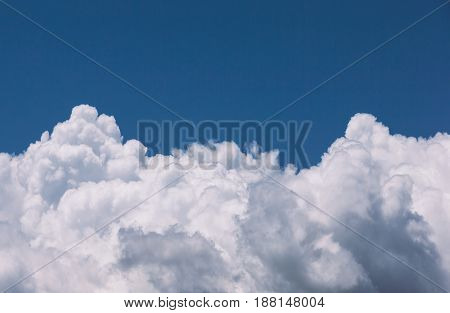Blue sky background with clouds / Sky with clouds