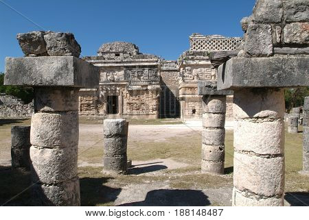 Building called Nunnery (Edificio de las Monjas) in the ancient Mayan city Chichen Itza, Mexico