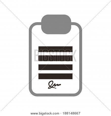 board signature document vector icon illustration graphic design
