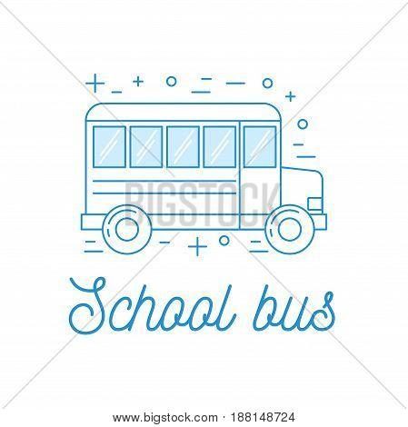 School Bus Line Art Illustration