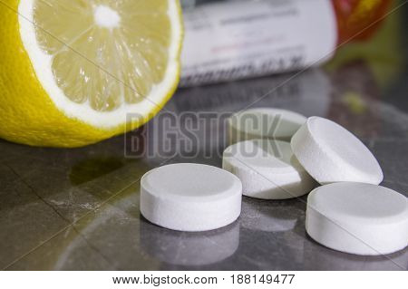 Natural recruitment of lemon with vitamins very healthy mix
