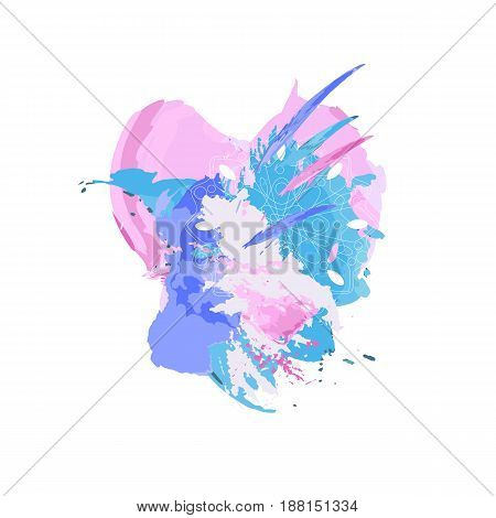 Abstract colorful watercolor background. Spots and splashes. Vector illustration