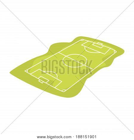Soccer or football field cartoon vector Illustration isolated on a white background