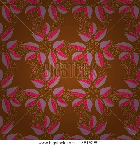 The elegant the template for fashion prints. Spring floral background with blue leaves. Motley illustration. Small colorful leaves. Vector cute pattern in small leaf.