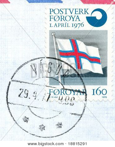 Very rare stamp from Faroe Island (Denmark) from 1976