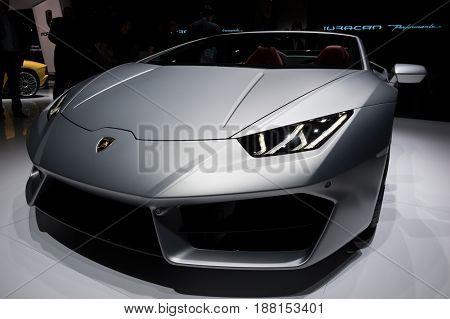 Lamborghini Huracan Rwd Spyder Sports Car