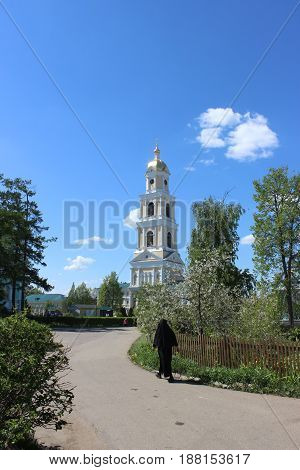 Seraphim of Sarov in the Holy Trinity Seraphim-Diveevo monastery in Diveevo, Russia, In the spring, May