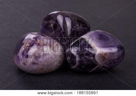 Amethyst Geode On Black Background