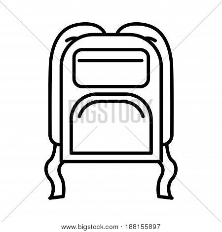 black silhouette with camping backpack vector illustration