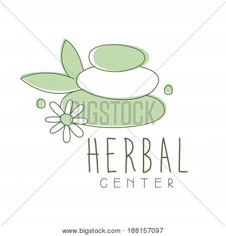 Herbal center logo symbol vector Illustration for business emblem, alternative medicine, homeopathy, holistic or ayurveda medicine center