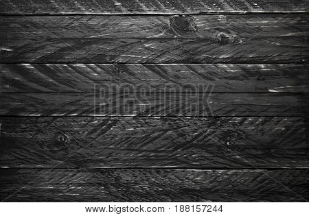 Black old vintage wooden texture background flat lay