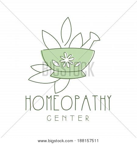 Homeopathi center logo symbol vector Illustration for business emblem, alternative medicine, yoga studio, holistic or ayurveda medicine center