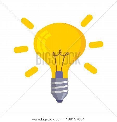 Lightbulb icon bulb icon isolated on white background Symbol of idea