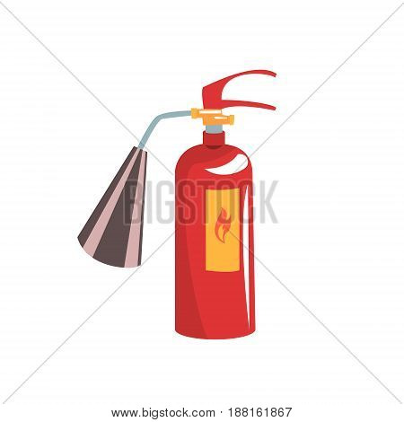 Red fire extinguisher vector Illustration isolated on a white background