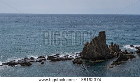 Las Sirenas In The Cabo De Gata-nijar Natural Park, Take In Almeria, Andalusia,  South-eastern Corne