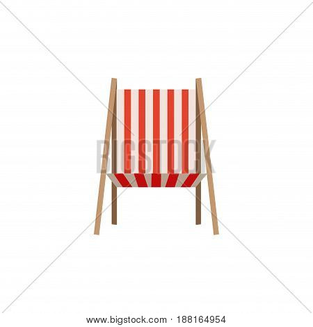 color silhouette of beach chair front view vector illustration