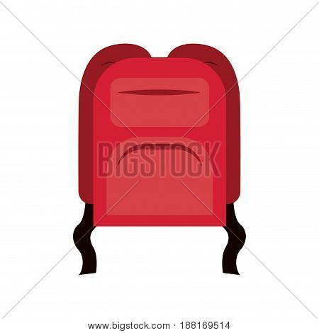 colorful silhouette of backpack icon vector illustration