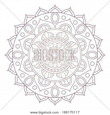 Flower Mandalas. Vintage Decorative Elements. Oriental Pattern, Vector Illustration. Islam, Arabic,
